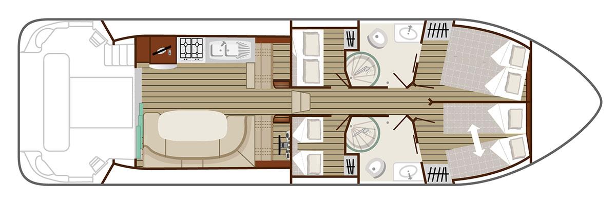 Nicols Hausboote Estivale Octo Plan
