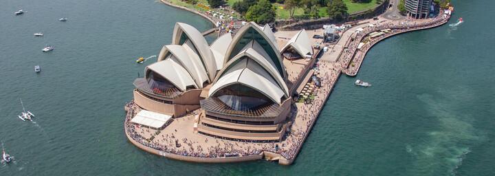 Opernhaus in Sydney von oben