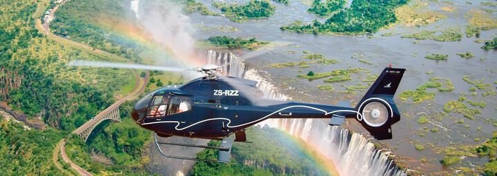Helikopterflug über Viktoriafälle