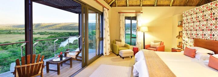 Zimmerbeispiel der Sarili Lodge im Shamwari Game Reserve