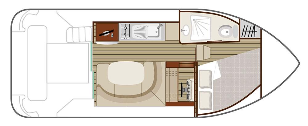 Nicols Hausboote Estivale Duo Plan