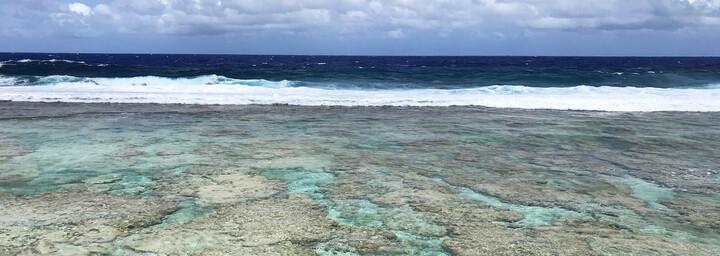 Cook Inseln Reisebericht - Meer und Riff auf Insel Atiu