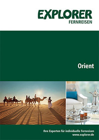 Explorer Fernreisen Orient Katalog Cover