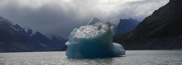 Neuseeland Reisebericht: Eisberg in Gletschersee