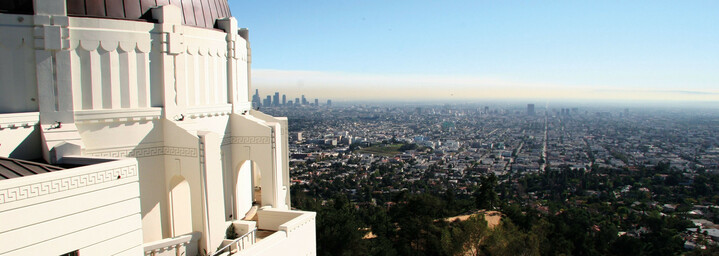Blick auf Los Angeles vom Griffith Observatory