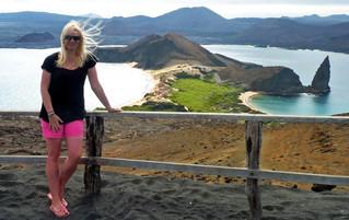 Galápagos Reisebericht - Aussichtspunkt auf der Insel Bartolomé