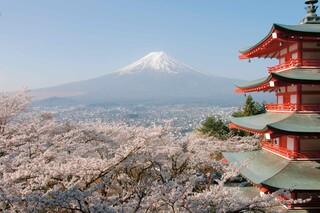 Blick auf den Fuji Vulkan in Japan
