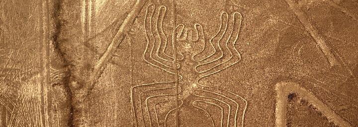 Nazca Linien in Form einer Spinne