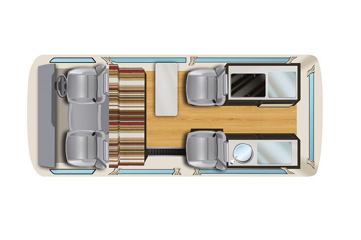Floorplan bei Tag - Apollo Endeavour Camper