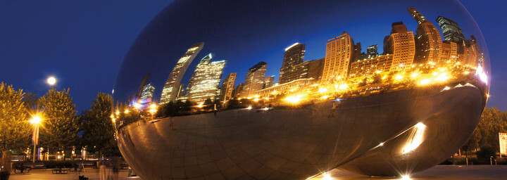 Cloud Gate bei Nacht Chicago
