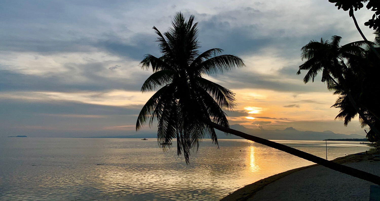 Siquijor Sonnenuntergang am Strand in San Juan