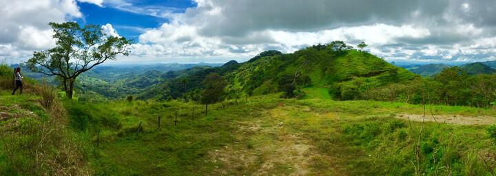 Landschaft auf dem Weg zum Monteverde Nebelwald