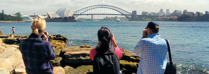 Fotomotiv: Opernhaus und Harbour Bridge