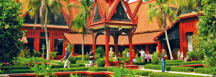 Garten des Nationalmuseums in Phnom Penh