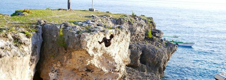 Jamaika Reisebericht - Klippenspringer Negril