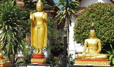 Luang Prabang Stadt und Tempel