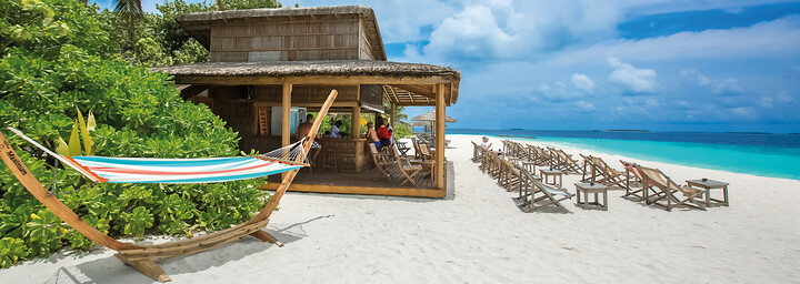 Strand des Reethi Beach Resort im Baa Atoll