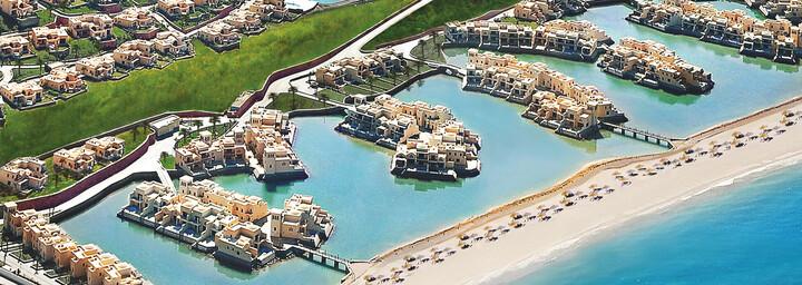 Luftbild des The Cove Rotana Resorts