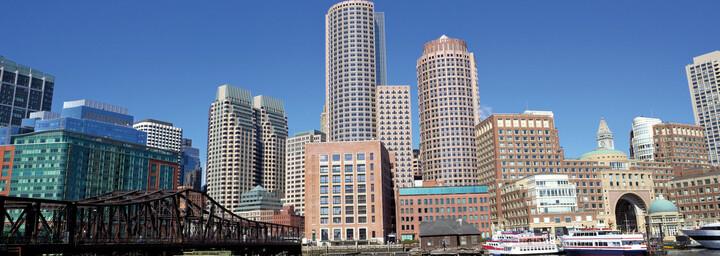 Hafen und Skyline Boston