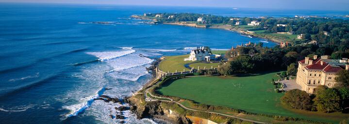 Küste von Newport Rhode Island