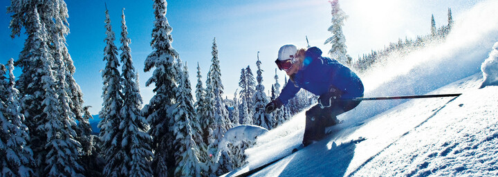 Skifahrer in Sun Peaks