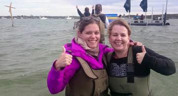 Reiseexpertin Sybille auf dem Weg zur Austernfarm