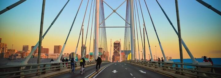 Nelson Mandela Brücke in Johannesburg