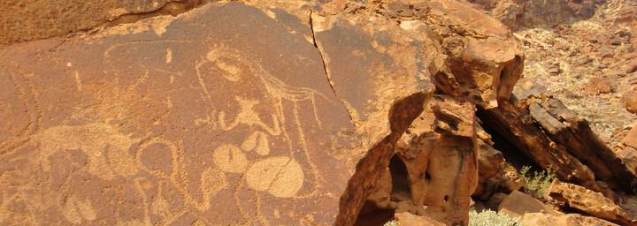 Damaraland Felsgravuren Namibia