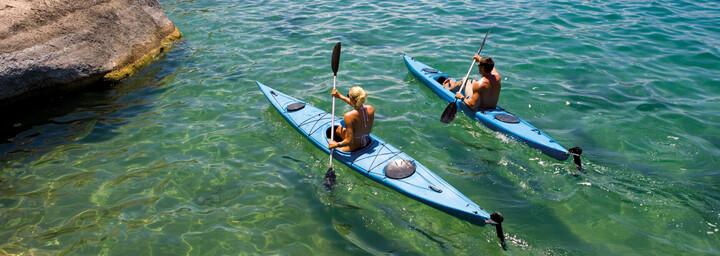 Kajakfahrer auf dem Lake Malawi