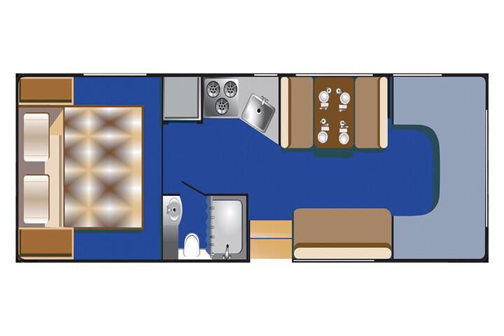 Floorplan bei Tag des C 28 - 30 ft