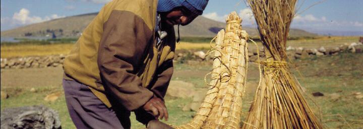 Bootmacher am Titikakasee