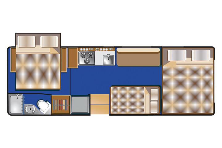 Floorplan bei Nacht des C 25 - 27 ft