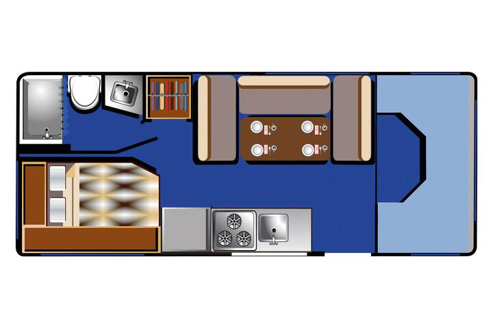 Floorplan bei Tag des C 21 - 23 ft