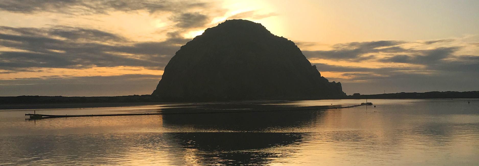 Reisebericht Kalifornien - Sonnenuntergang am Morro Rock in der Morro Bay