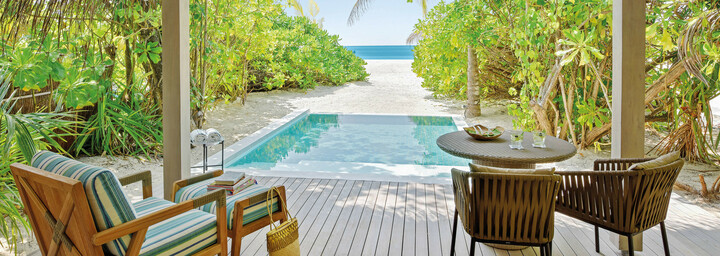 Beispiel Beach Pool Villa - Kanuhura - A Sun Resort Maldives