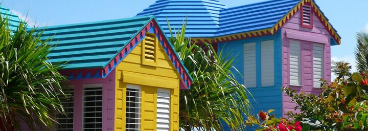 Typische Häuser in Nassau