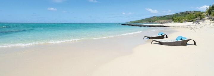 Strand des Tekoma Boutik Hotels auf Rodrigues