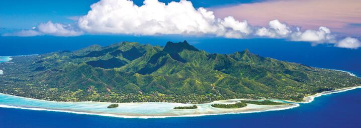 Rarotonga Cook Inseln aus der Luft