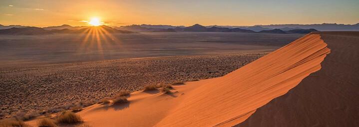 Namib Wüste beim Sonnenuntergang