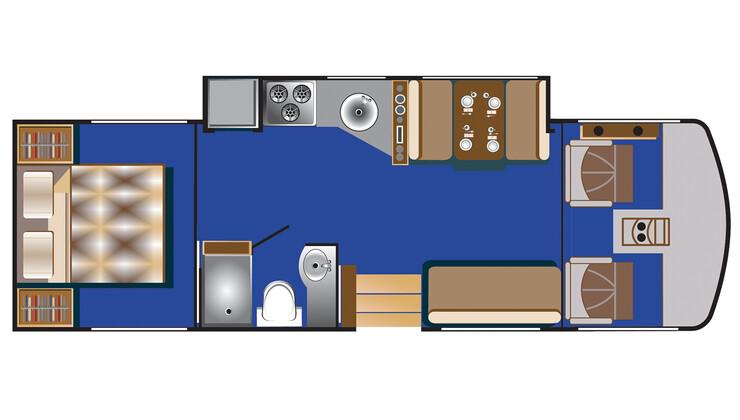 Floorplan bei Tag des C 30 - 32 ft