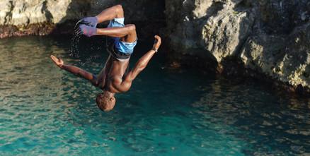 Jamaika Reisebericht - Klippenspringer in Negril