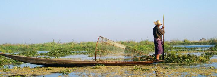 Inle See - Ein-Bein-Ruderer