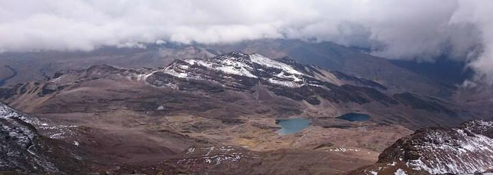 Ausblick auf das ehemalige Skigebiet Chacaltaya in Bolivien