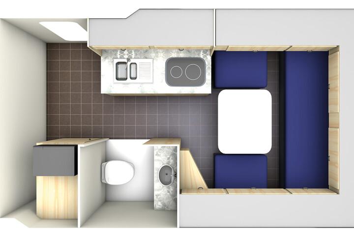Floorplan bei Tag des Deluxe Camper Van DVC