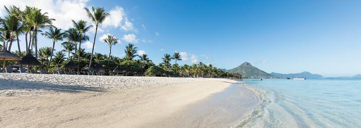Strand des La Pirogue an der Westküste von Mauritius