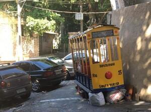 Straßenbahn im Viertel Santa Teresa