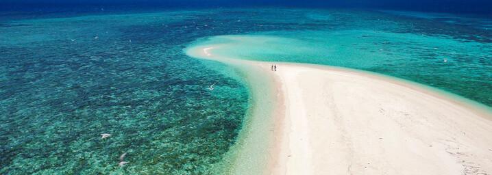 Sandbank und Meer im Tropischen Norden Queenslands