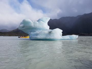 Reisebericht Neuseeland: Eisberg im Gletschersee Lake Tasman