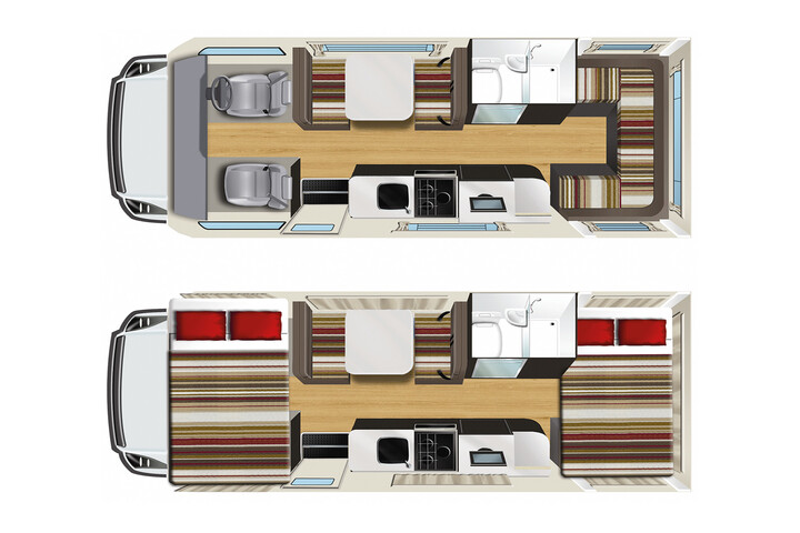 Floorplan des Pandora RV